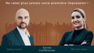 image : Conférence Ne ratez plus jamais votre première impression - parler en public - Charline Caron - Valéry Comte