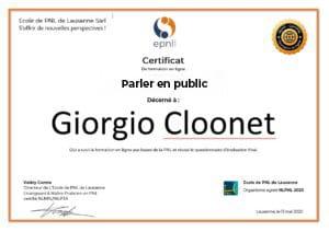 Image Certificat parler en public - Formation vidéo en ligne epnll -ecole de pnl de lausanne